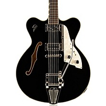 Fullerton Elite Semi-Hollow Electric Guitar Black