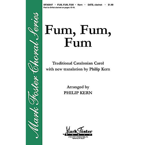 Shawnee Press Fum, Fum, Fum SATB arranged by Philip Kern