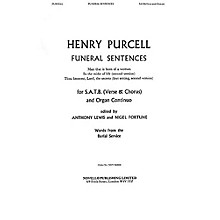 Novello Funeral Sentences SATB, Organ Composed by Henry Purcell
