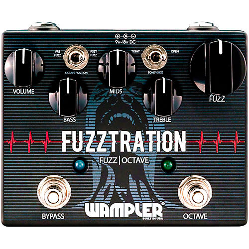 Wampler Fuzztration Fuzz Octave Guitar Effects Pedal