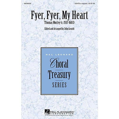 Hal Leonard Fyer, Fyer, My Heart SSATB A Cappella arranged by John Leavitt