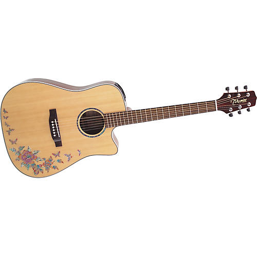 takamine g series eg530sc bf dreadnought cutaway butterfly acoustic electric guitar musician 39 s. Black Bedroom Furniture Sets. Home Design Ideas