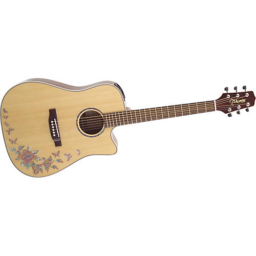 Takamine G Series G530S-BF Dreadnought Butterfly Acoustic Guitar