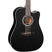 G Series GD30CE-12 Dreadnought 12-String Acoustic-Electric Guitar Black
