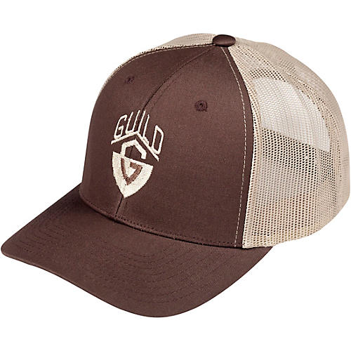 Guild G-Shield Logo Khaki Brown Trucker Hat