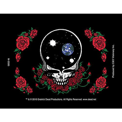 C&D Visionary G. Dead Face & Skull Roses Magnet