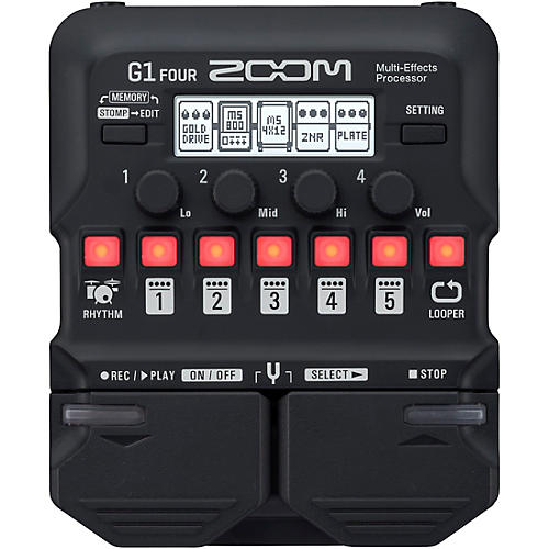 Zoom G1 FOUR Guitar Multi-Effects Processor Condition 1 - Mint