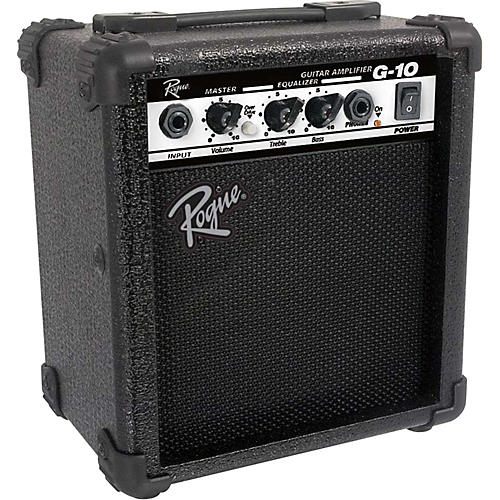 rogue g10 10w 1x5 guitar combo amp black musician 39 s friend. Black Bedroom Furniture Sets. Home Design Ideas