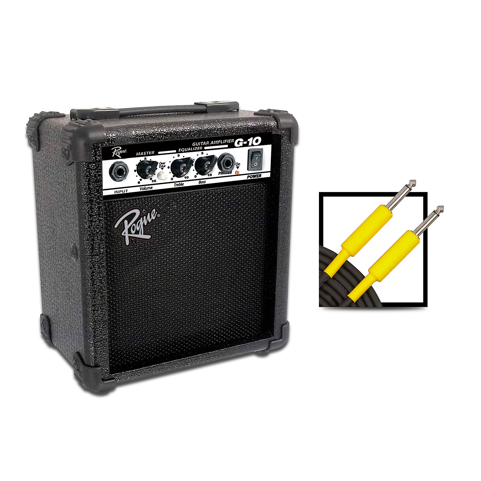 Rogue G10 10W 1x5 Guitar Combo Amp with 20 Foot Instrument Cable