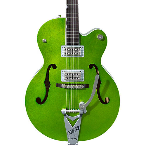 Gretsch Guitars G6120T-HR Brian Setzer Signature Hot Rod Hollow Body with Bigsby Extreme Coolant Green Sparkle