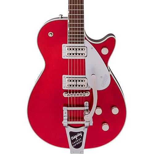 Gretsch Guitars G6129T Players Edition Jet FT with Bigsby Electric Guitar Red Sparkle