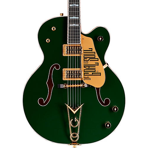 gretsch guitars g6136i irish falcon bono signature electric guitar evergreen with gold sparkle. Black Bedroom Furniture Sets. Home Design Ideas