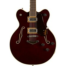 G6609 Players Edition Broadkaster Center Block with V-Stoptail Dark Cherry Stain