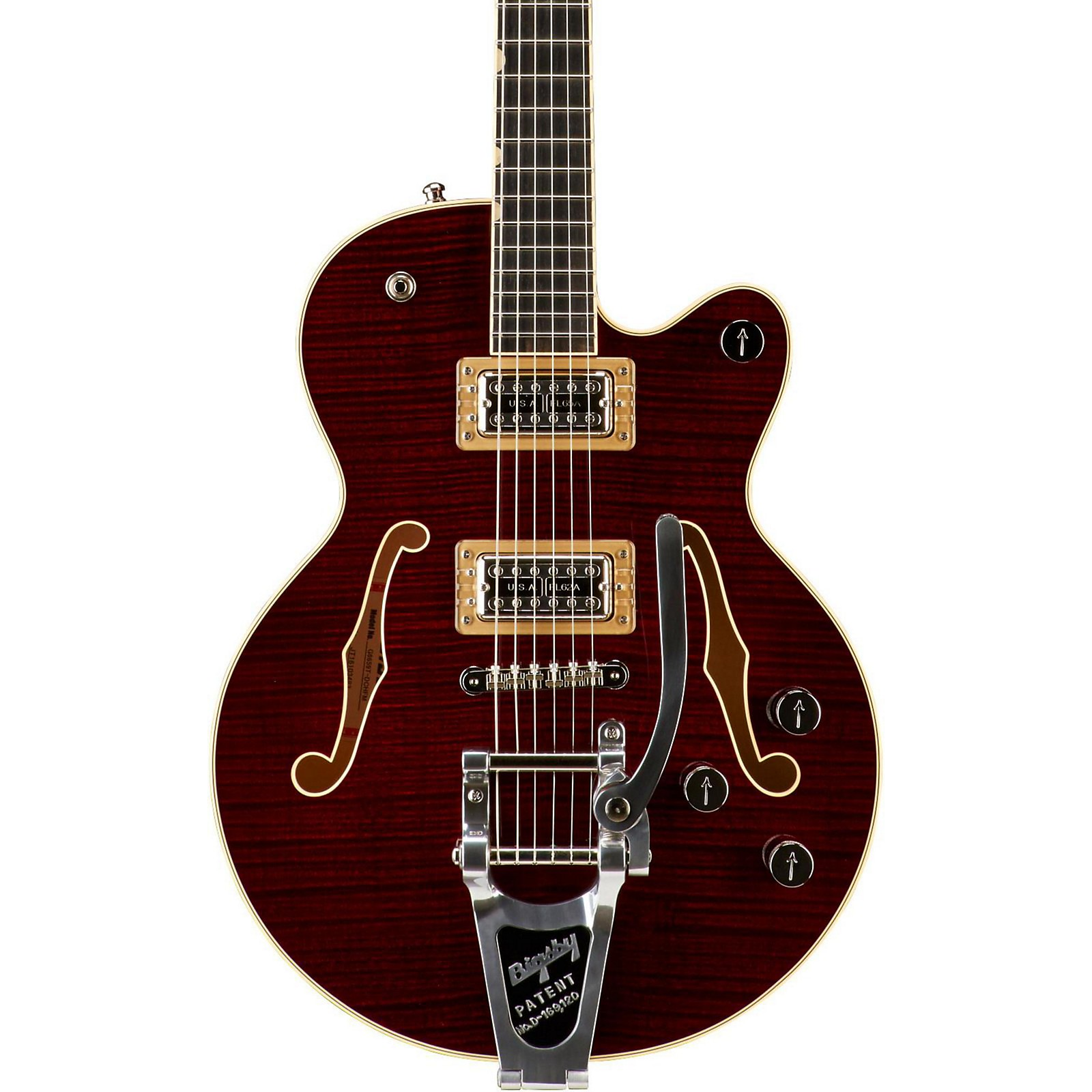 Gretsch Guitars G6659TFM Players Edition Broadkaster Jr. Center Block Bigsby Semi-Hollow Electric Guitar