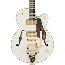 G6659TG Players Edition Broadkaster Jr. Center Block Bigsby Semi-Hollow Electric Guitar Vintage White