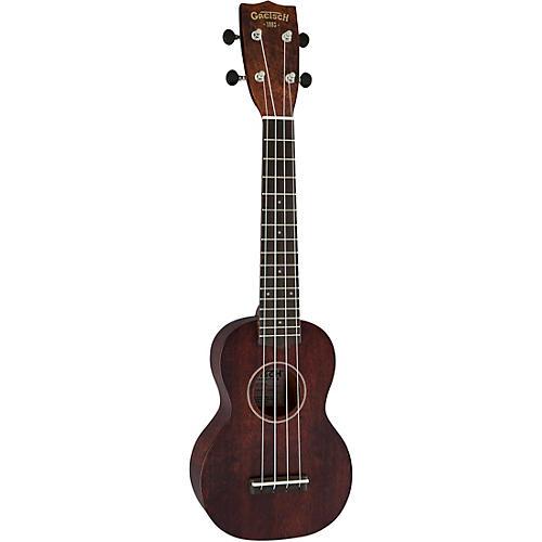 Gretsch Guitars G9100-L Soprano Long-Neck Ukulele Ovangkol Fingerboard Vintage Mahogany