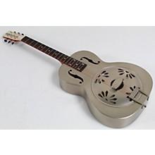 Open BoxGretsch Guitars G9201 Honey Dipper Round-Neck, Brass Body Biscuit Cone Resonator Guitar