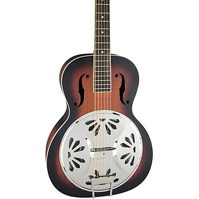 Gretsch Guitars G9220 Bobtail Round-Neck Resonator Guitar, Spider Cone