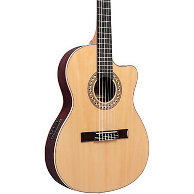 Ibanez GA Series GA34STCE Thinline Solid Top Classical Acoustic-Electric Guitar