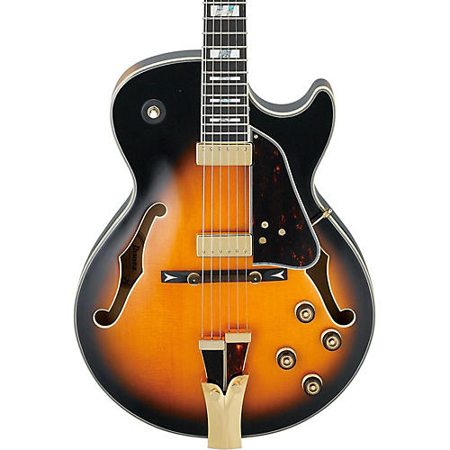 Ibanez GB Series GB10SE George Benson Signature Hollow Body Electric Guitar Brown Sunburst Tortoise Pickguard