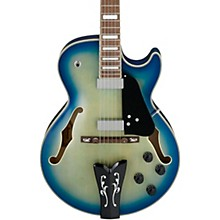 GB10EM George Benson Hollowbody Electric Guitar Jet Blue Burst