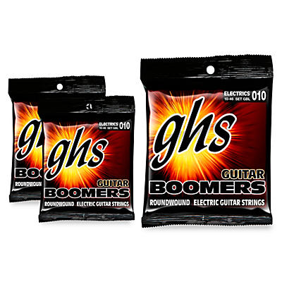 GHS GBL Boomers Light 010 Electric Guitar Strings 3-Pack