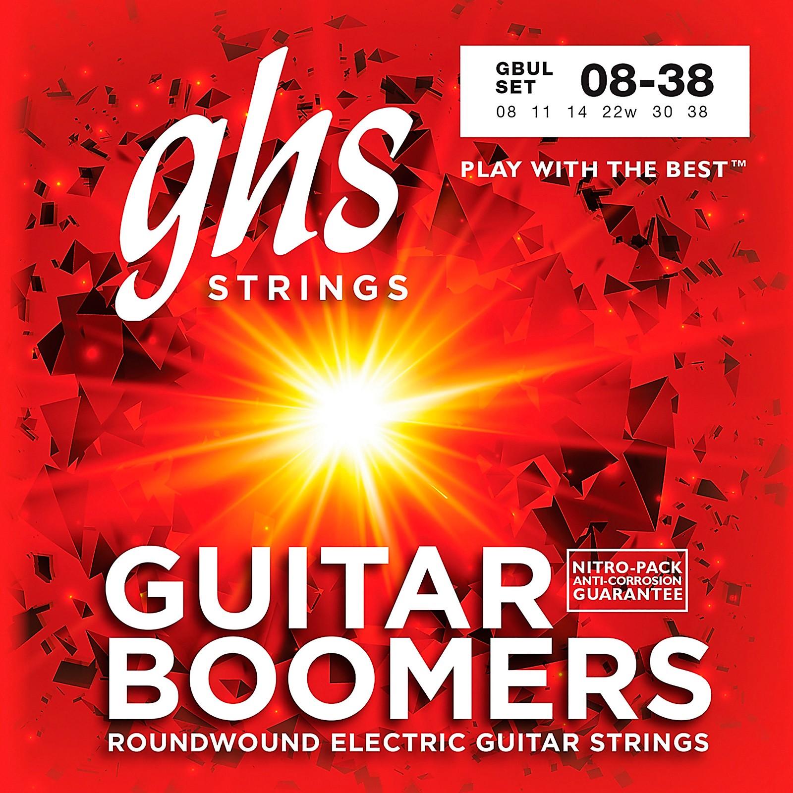 GHS GBUL Boomers Ultra Light Electric Guitar Strings