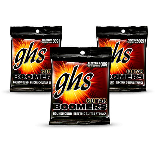 GHS GBXL Boomers Extra Light Electric Guitar Strings - 3-Pack