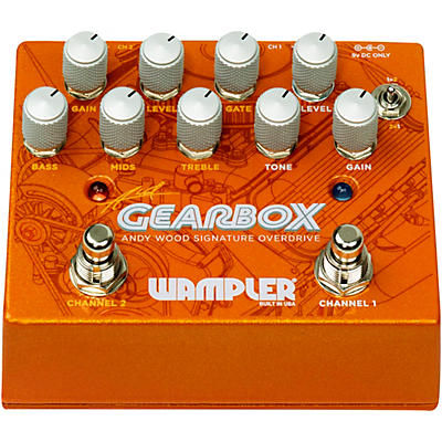 Wampler GEARBOX Andy Wood Signature Overdrive Effects Pedal