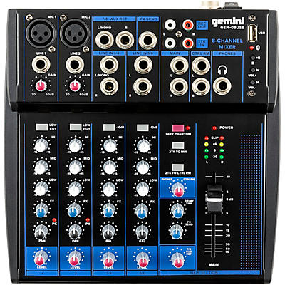 Gemini GEM-08 USB 8 Channel USB mixer With Bluetooth