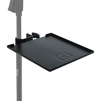 Gator GFW-SHELF0909 Gator Frameworks small microphone stand clamp-on utility shelf, capacity up to 10lbs.