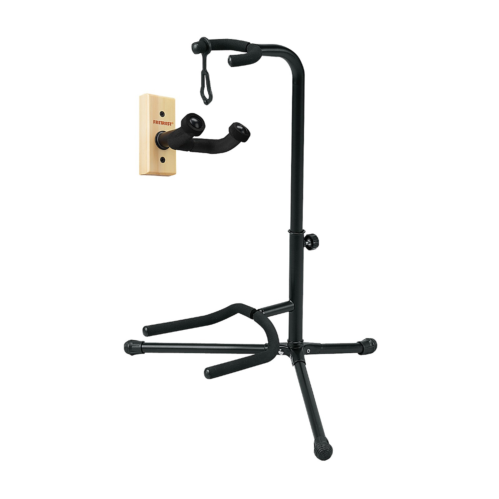 Musician's Gear GH1 Guitar Wall Hanger and SSG-303 Tubular Guitar Stand Package