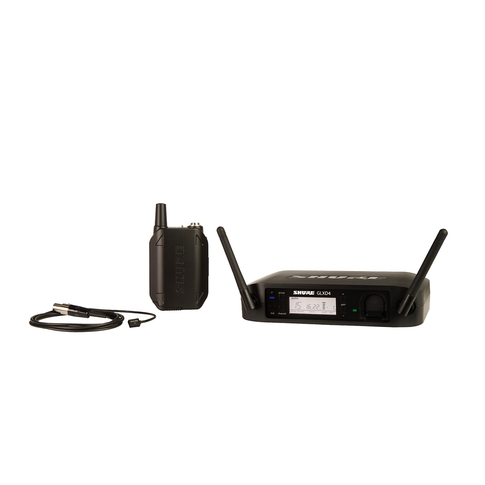 Shure GLX-D Wireless Vocal System with WL93 Lavalier Mic
