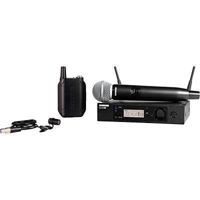 Shure GLXD124R Advanced Wireless System with SM58 Handheld and WL185 Lavalier Combo