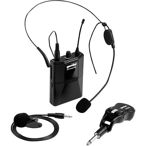 Gemini GMU-HSL100 Single Headset, Lavalier Wireless UHF Microphone System