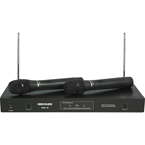 Gem Sound GMW60 Dual Channel Handheld Wireless System