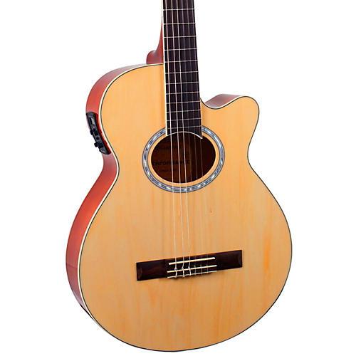 Giannini GNF-1R CEQ Mini Jumbo Nylon Acoustic-Electric Guitar
