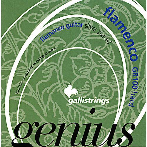 Galli Strings GR100 GENIUS FLAMENCO Nylon Coated Silverplated Hard Tension Classical Acoustic Guitar Strings