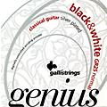 Galli Strings GR25 GENIUS Black and White Coated Silverplated Normal Tension Classical Acoustic Guitar Strings thumbnail