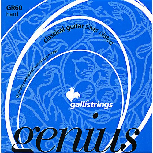 Galli Strings GR60 C Genius Coated Silverplated Hard Tension Classical Acoustic Guitar Strings