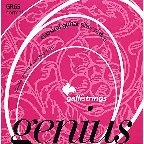 Galli Strings GR65 C GENIUS Coated Silverplated Normal Tension Classical Acoustic Guitar Strings