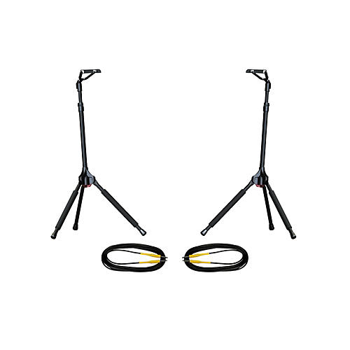Ultimate Support GS-100 Genesis Single Guitar Stand 2-Pack w/Free Cables