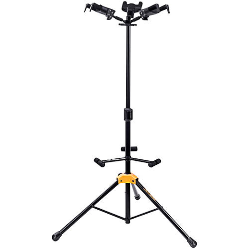 Hercules GS432BPLUS PLUS Series Universal Auto Grip Tri Guitar Stand with Foldable Backrest