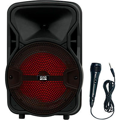 Gemini GSX-L208BTB 500W 8 in. Powered Speaker With Bluetooth, Rechargeable Battery, And Microphone