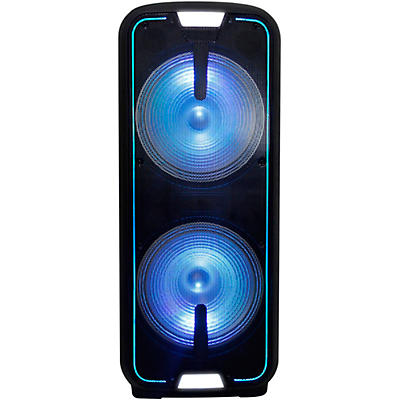Gemini GSX-L2515BTB Dual 15 in. Dynamic Woofer Rechargeable Speaker with LED Lights And Bluetooth