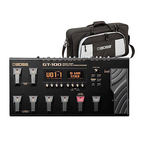 Boss GT-100 Guitar Multi-Effects Pedal and L2 Bag Bundle