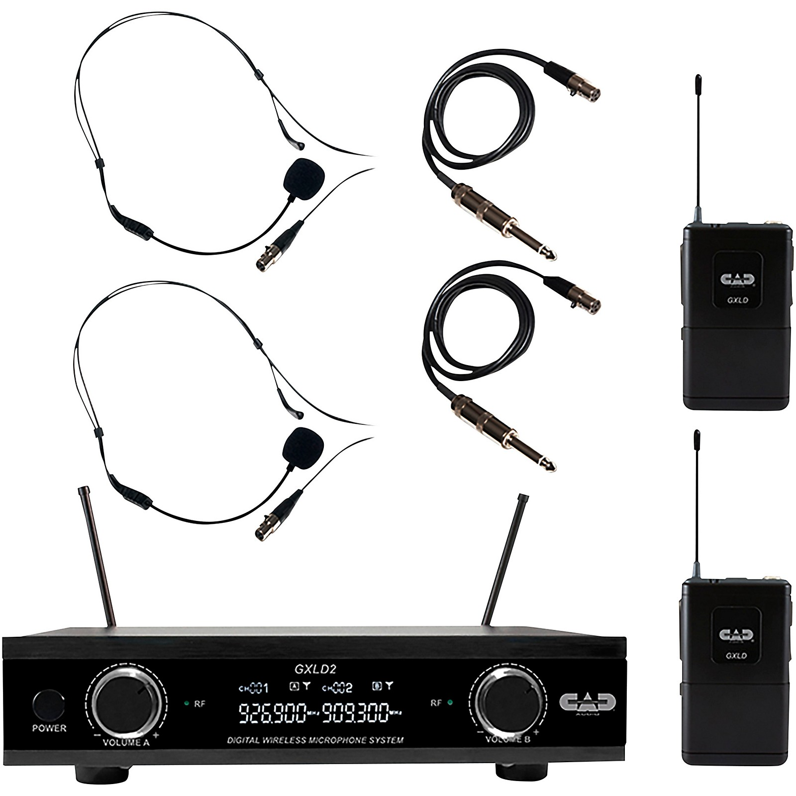 CAD GXLD2BB Digital Dual Channel Wireless Microphone System
