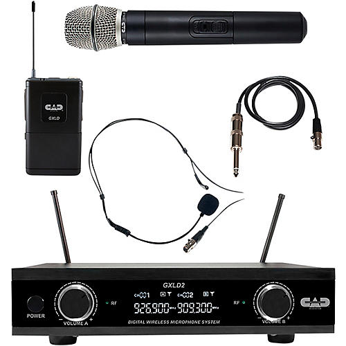 CAD GXLD2HBAH Digital Dual Channel Wireless System handheld and bodypack microphone system AI: 909.3/926.8MHz