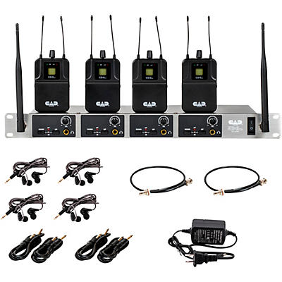 CAD GXLIEM4 Quad Wireless In Ear Monitor System