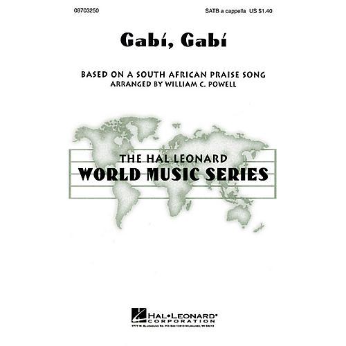 Hal Leonard Gabi, Gabi SATB a cappella arranged by William Powell